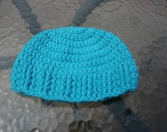 Blue Crochet Baby Hat 3-6 Months