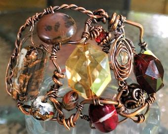 Handmade Copper Wire Cuff Bracelet