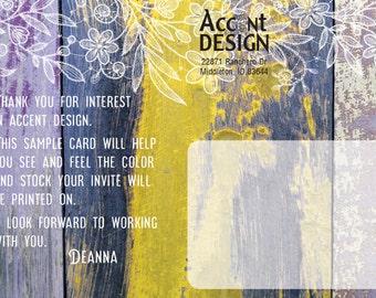 Color Card - Postcard Mailer