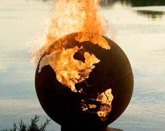 Earth Firepit Sphere