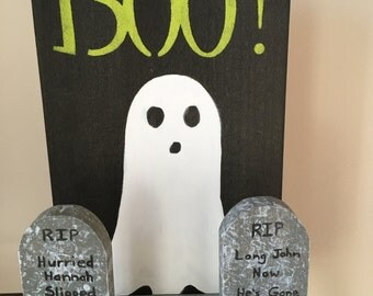 Halloween, Ghosts, Rustic, Reclaimed Wood, Home Decor, Decorations, Trick or Treat