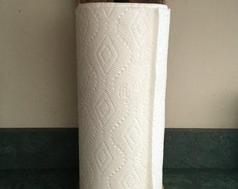 Reclaimed paper towel holder