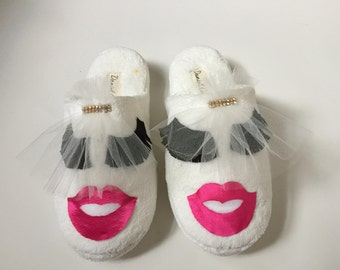 Wedding Slippers Bride Slippers Goorm Slippers Hand Made