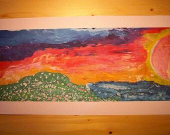 Solar Flare Art Print Poster
