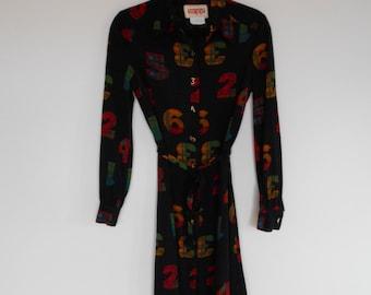 Vintage Number Dress