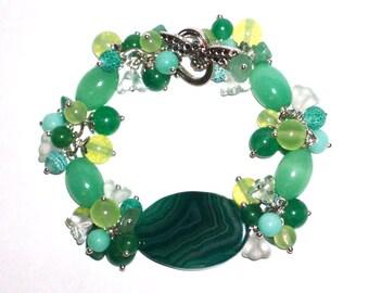 Jade Green Bracelet Green Jewelry Jade Bracelet Gemstone Bracelet Womens Bracelet Bridesmaid Gift Beaded Bracelet Gift For Her