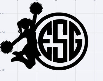 Customizable Cheerleader Monogram