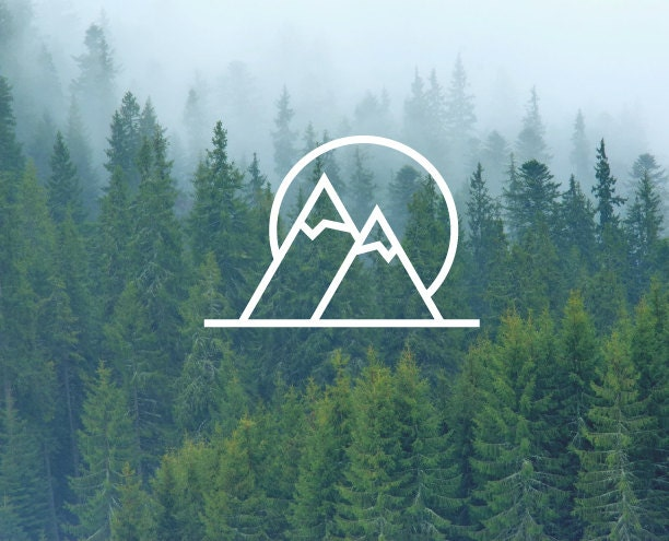 Mountains Amp Sun Decal Mountain Decal Nature Decals