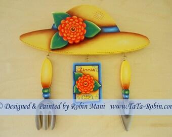 215 Planting Zinnias Yard Art Decorative Painting Pattern