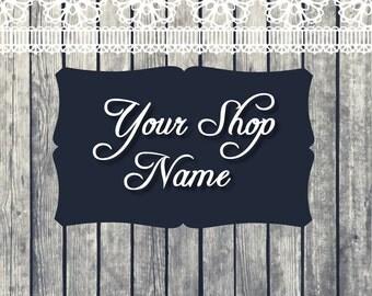 Banner Design, Shop Banner, Etsy Shop Banner, Shop Banner Set, Wood Banner Set, Graphic Design, Premade Banner, Cover Photo,