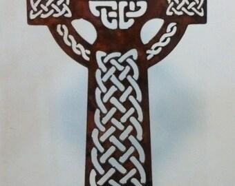 Celtic Cross metal artwork