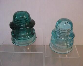 2 Brookefield Insulators Aqua color