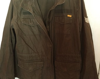 Old Navy Olive Green Army Jacket; XL