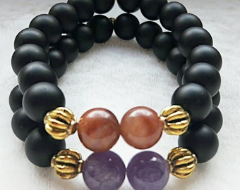 Amethyst.. Shungite.. Agate..Nature stone..Good gidt