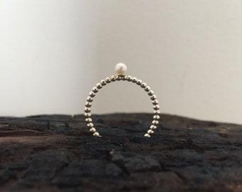 Sea urchin ring (pearl)