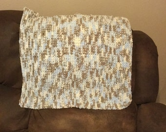 Hand knitted baby blanket/ made to order/ customizable color