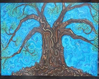 "Tree of Life - 36""x48"" Acrylic on Canvas"
