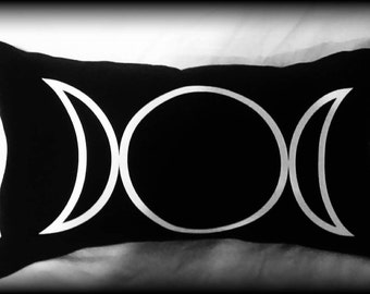 Triple Moon Goddess pillow, Wiccan pillow, Wiccan home decor