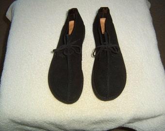 Clark's famous, Original Trek shoes in black suede