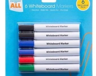 White board markers 6pk