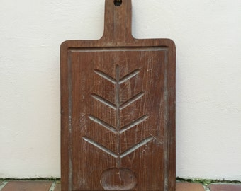 ANTIQUE VINTAGE FRENCH bread or chopping cutting board wood 1898