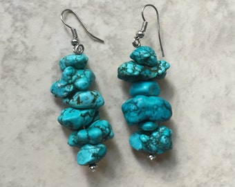 Turquoise Howlite Dangles