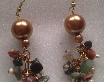 Stone Cluster Earring