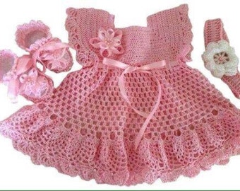 baby crochet dress (3 pack) all zise and color available