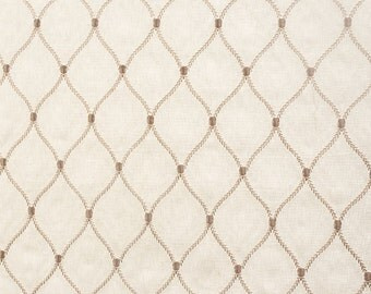Drapery/Upholstery Home Decor Emroidered Linen Fabric Adonis Murmur by the Yard