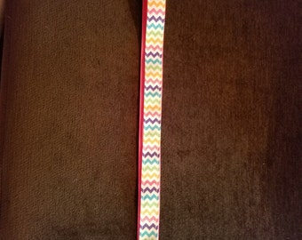 Lanyard- Multicolor Chevron Pattern 01