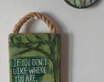 Handpainted sign 'Tree'