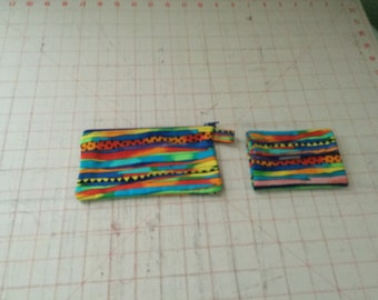 Bright Stripes Coin And Card Holder