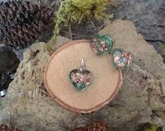 "Resin: jewelry set ""Heart"" (12)"
