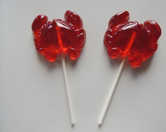 Crab Lollipops Beach Ocean Sea Nautical Wedding Party 8 Favors Candy