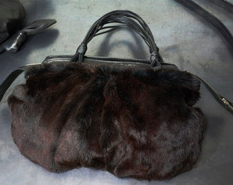 Lamskin and Rabbit fur mixed bag