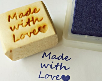 Made with Love stamp: custom stamp, custom stationery, custom logo, Brand stamp