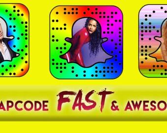 Snapchat Custom Snapcode/3 custom snapcodes plus free unlimited revisions
