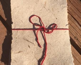 Handmade juniper bark paper (10 sheets)
