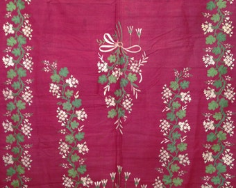 18th Century Dark Pink French Coverlet