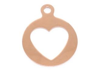 Pinkiezz coin charm heart