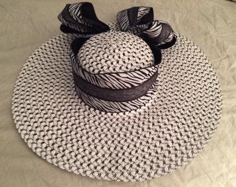 Black & White Zebra Stripe Hat