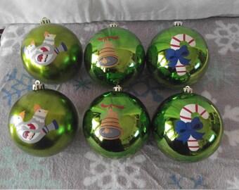 handpainted christmas balls