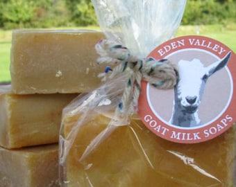 All Natural Orange Swirl Goat Milk Soap 4 oz