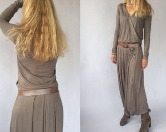 JERSEY JUMPSUIT / OVERALL / Long Dress-Pants. Made to Order.