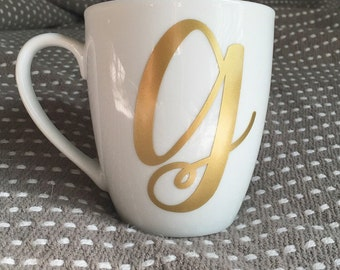 Personalized Letter Coffee Mug