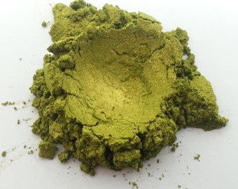 Olive Green Shimmer Mica Powder Pigment - Cosmetic Grade