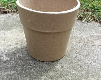 Set of 4 Paper Mache Pot, Papier Mache pot, Blank Mache Pot, Mache Flower Pot, Cardboard Pot,