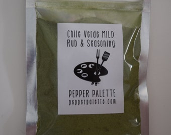 Pepper Palette Chile Verde MILD Rub & Seasoning