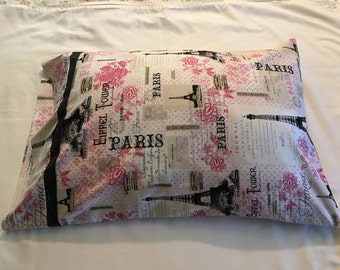 Paris print pillowcase