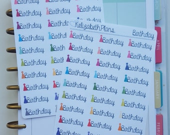 Birthday, Reminder, Event, Planner Stickers